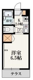 メゾンケーワイ山田2階Fの間取り画像
