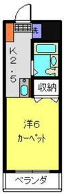 スリーKマスコ3階Fの間取り画像