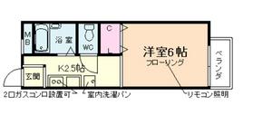 ヴァンベール日吉2階Fの間取り画像