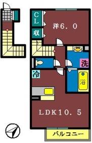プルミエール(本大久保)2階Fの間取り画像