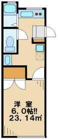 サンハウス伊東II1階Fの間取り画像
