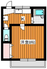 地下鉄成増駅 徒歩10分2階Fの間取り画像