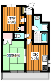 赤塚Aビル3階Fの間取り画像