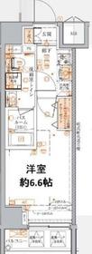 ベルシード横濱WESTⅡ6階Fの間取り画像