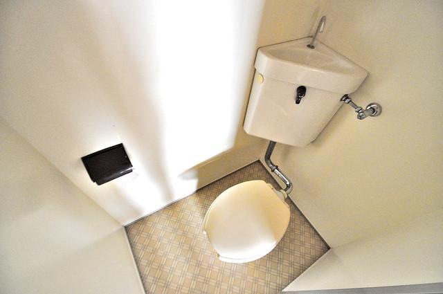 アスリートコート 清潔感のある爽やかなトイレ。誰もがリラックスできる空間です。