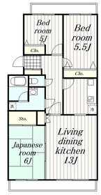 鶴間駅 徒歩30分3階Fの間取り画像