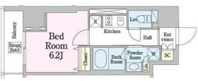 レジディア笹塚310階Fの間取り画像