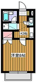 成増駅 徒歩14分2階Fの間取り画像