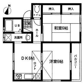 カームハイツ2階Fの間取り画像