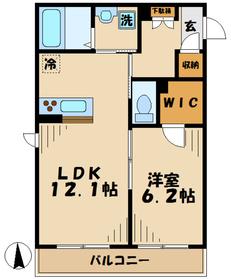 ミリア五月台WEST ミリアサツキダイウエスト3階Fの間取り画像