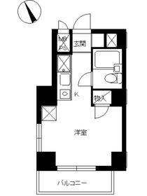 スカイコート浅草第33階Fの間取り画像
