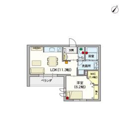 (シニア限定)ヘーベルVillage元住吉弐番館3階Fの間取り画像