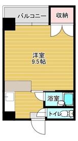 フローラル新屋敷5階Fの間取り画像