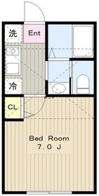リッチハウス2階Fの間取り画像