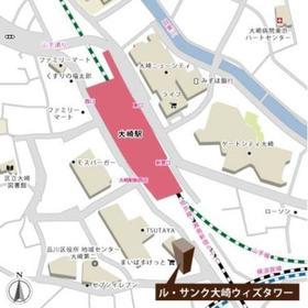 ル・サンク大崎ウィズタワー案内図