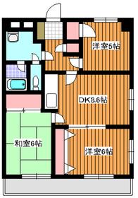 地下鉄赤塚駅 徒歩10分3階Fの間取り画像