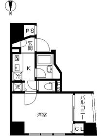 スカイコート神楽坂弐番館2階Fの間取り画像