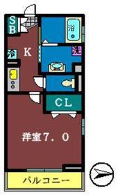ベラーノ津田沼2階Fの間取り画像