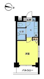 スカイコートヌーベル新宿落合8階Fの間取り画像