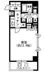 レジディア四谷三丁目3階Fの間取り画像