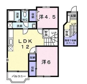 アフロディーテ2階Fの間取り画像