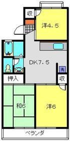 旭レジデンスB2階Fの間取り画像