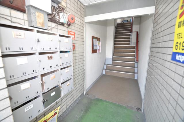 平尾マンション エントランス内には各部屋毎のメールボックスがあります。