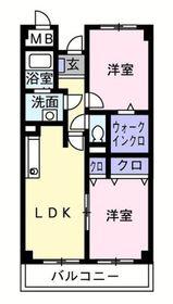 シャルマンパレ2階Fの間取り画像