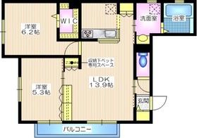 メゾン・ド・オー2階Fの間取り画像