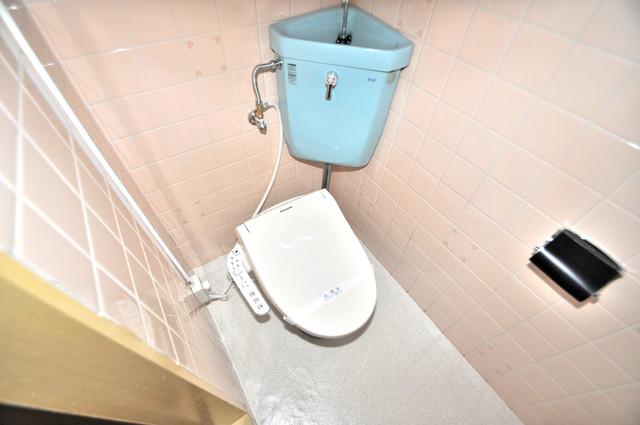 メダリアン巽 清潔感たっぷりのトイレです。入るとホッとする、そんな空間。