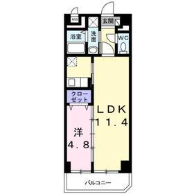 東武練馬駅 徒歩2分4階Fの間取り画像