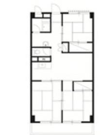 横山三ツ池マンション2階Fの間取り画像