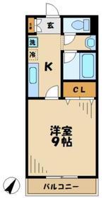 カームコート1階Fの間取り画像