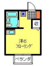 サンティ鎌谷1階Fの間取り画像