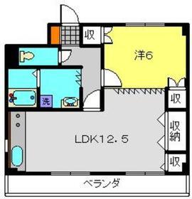B・Fハイツ5階Fの間取り画像