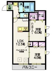 (仮称)美原4丁目メゾン C棟2階Fの間取り画像