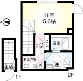 オーガスタコート板橋本町02階Fの間取り画像