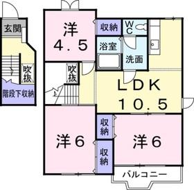 モンラルジュ8番館2階Fの間取り画像