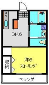 IKハイム中央3階Fの間取り画像