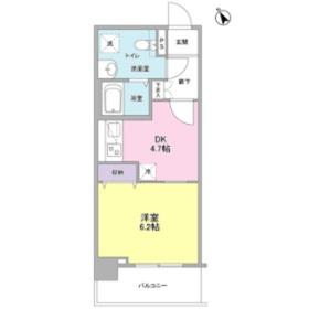 メルベイユヨコハマ7階Fの間取り画像