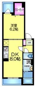 ドミールS1階Fの間取り画像