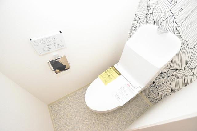 クリエオーレ高井田西 清潔感たっぷりのトイレです。入るとホッとする、そんな空間。