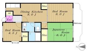 グリーンピア青葉台Ⅱ1階Fの間取り画像