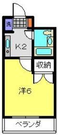 アジュール片倉2階Fの間取り画像