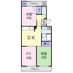 ウィステリア8013階Fの間取り画像