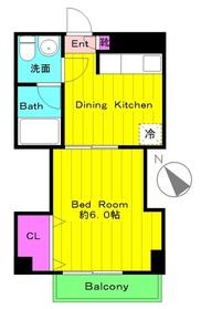 田村マンション2階Fの間取り画像
