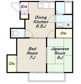 第2南ハイツ2階Fの間取り画像
