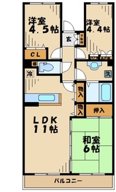 伊勢原駅 車15分5.0キロ1階Fの間取り画像