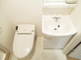 トイレと洗面台は一緒です。