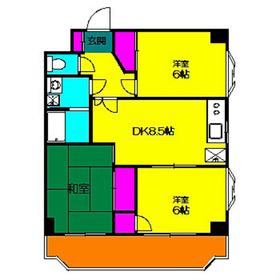 リヴェール荏田2階Fの間取り画像